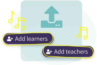 Add learners and teachers